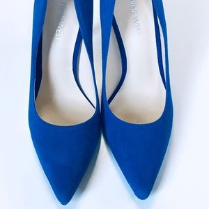 Nine West Size 6 Royal Blue Tatiana Pump